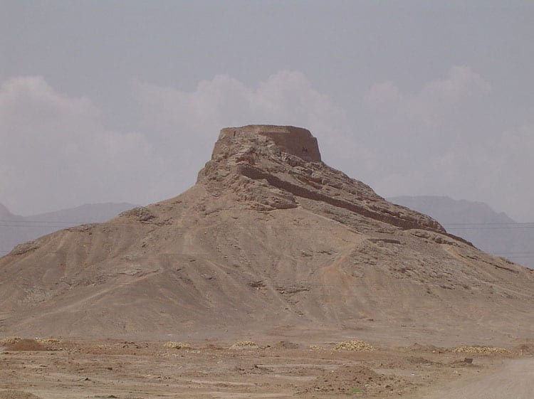 Very similiar looking to the Chilpik Tower of Silence is the Zoroastrian Tower of Silence outside Yazd in Iran