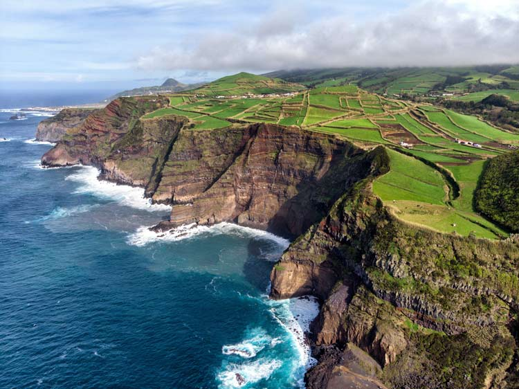Cliffs on the Azores coast