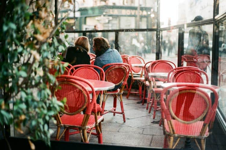 Indoor and outdoor cafes all over Paris