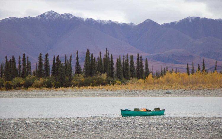 Canoe trip on the Noatak River in Alaska
