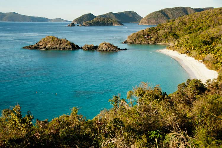 The beaches of the U.S. Virgin Islands