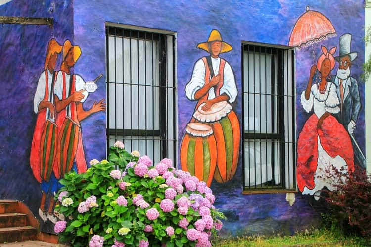 Mural of dancing in Uruguay