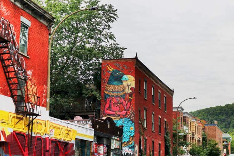 Downtown murals in the canadian city