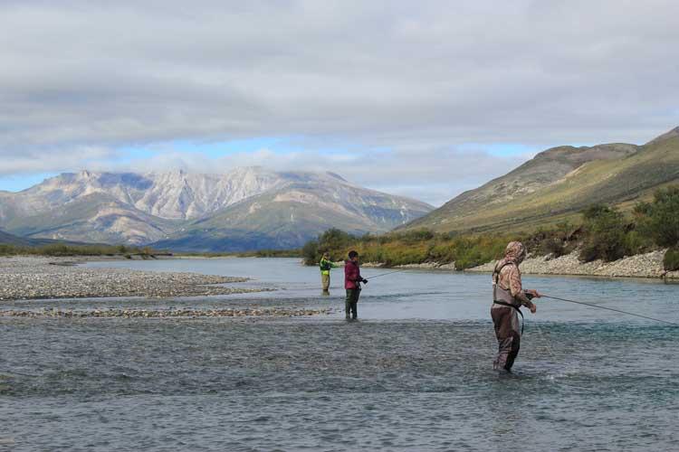 Fishing on the Noatak River in Alaska