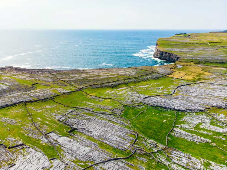 View over Inishmore cliffs
