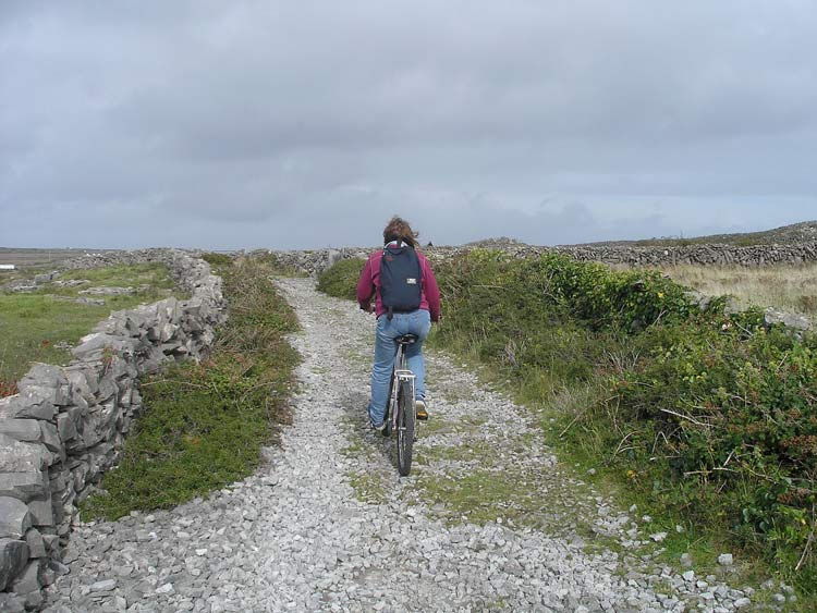 Biking around Inishmore
