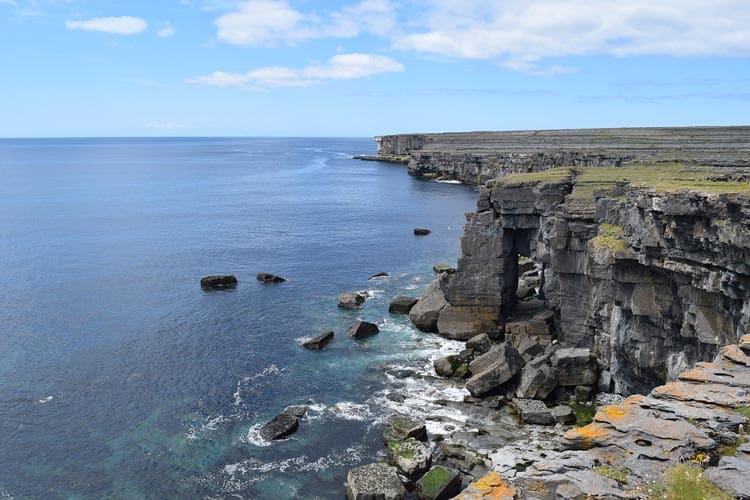 Rocky island cliffs