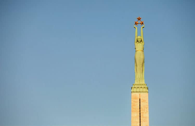 Freedom Monument in Latvia