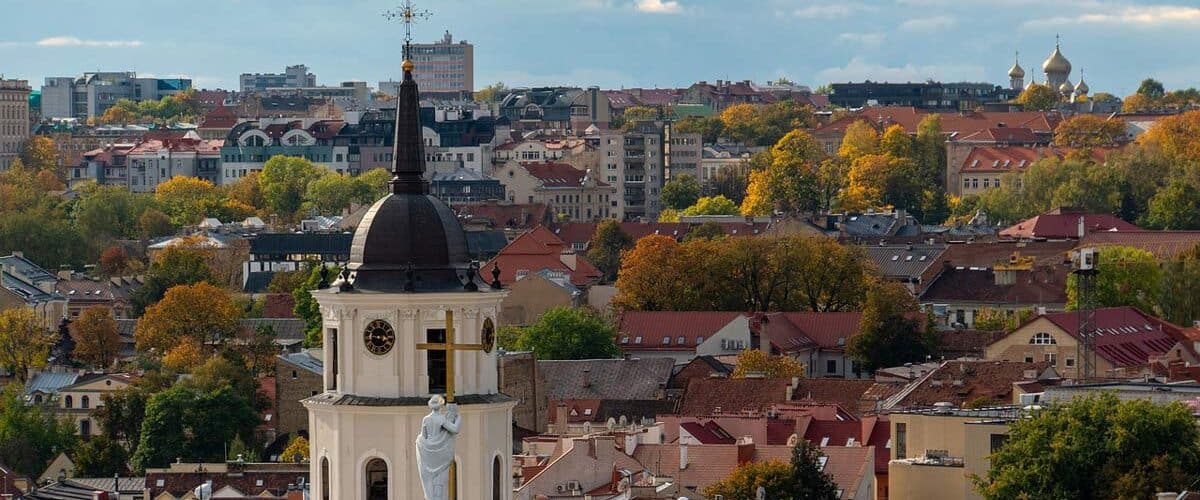Overlooking the city in Lithuania