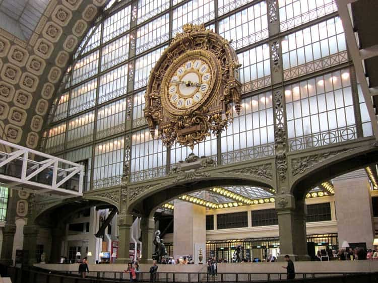 The famous clock at the Musée d'Orsay in the 7th Arrondissement of Paris
