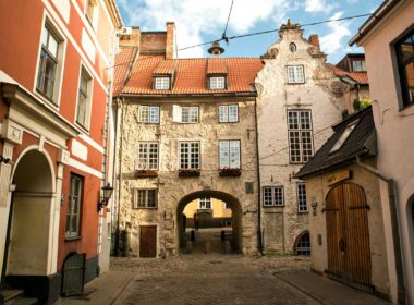 The old city in Latvia