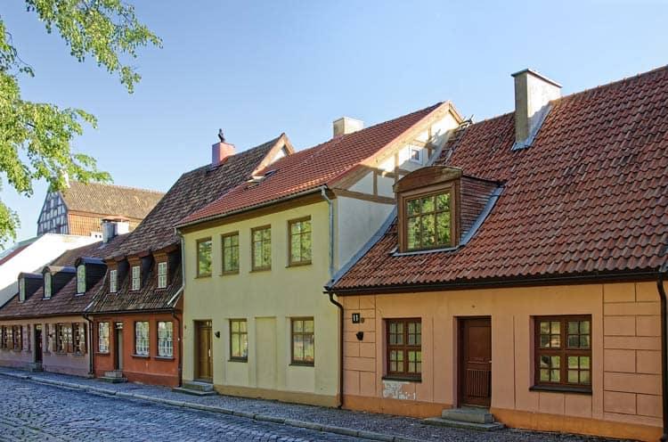 Quaint houses in Kaunas Old Town
