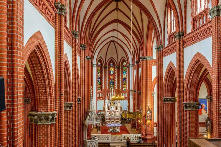 Inside Church of Saint Marie in Palanga, Lithuania