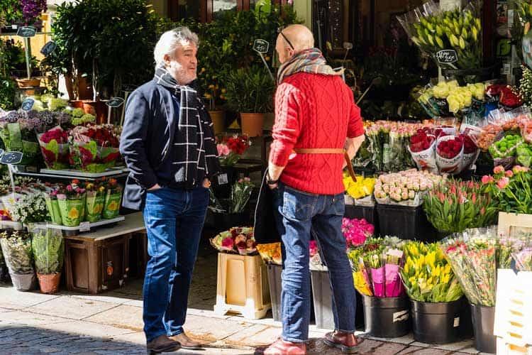 Flower shop in Rue Cler