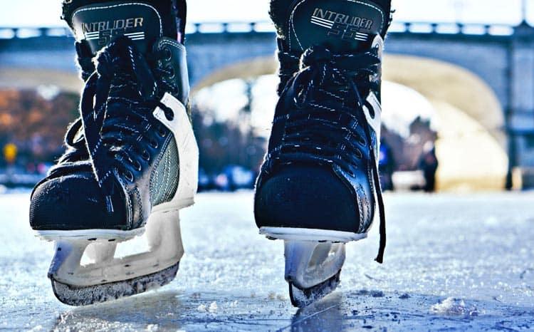 Ice-skating in Ottawa, Canada in Rideau Canal