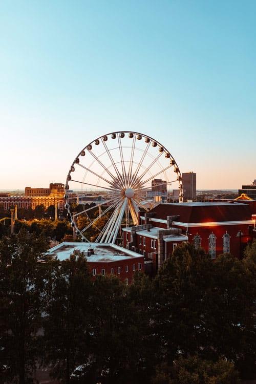 Aerial view of Centennial Olympic Park in Atlanta, Georgia