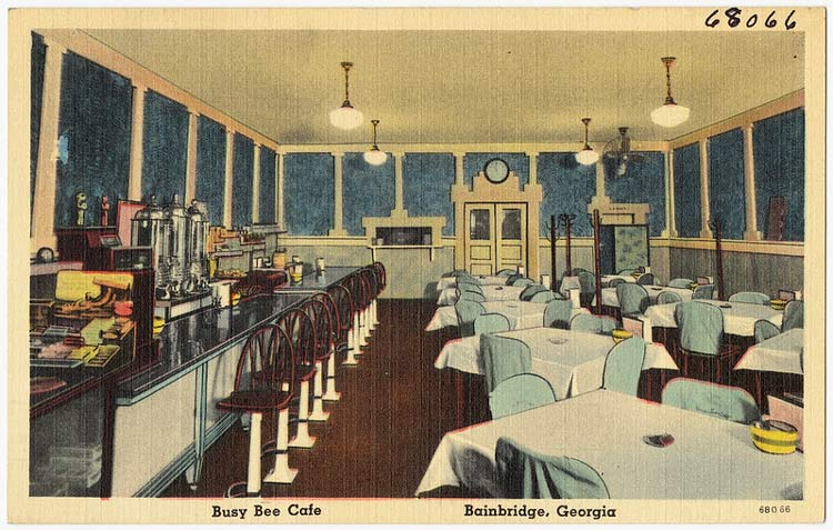 The Busy Bee Café in Atlanta, Georgia, open since 1947. CC Image by Boston Public Library