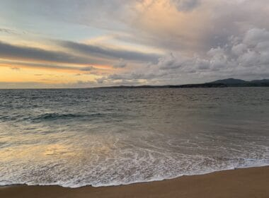 The ocean view sunsets are amazing in Careyes, Mexico. Photo by Maribeth Mellin
