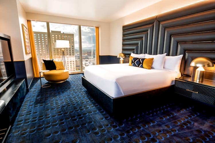 The Circa in Las Vegas suites offer guests modern décor and a view of the city. Photo courtesy of Circa