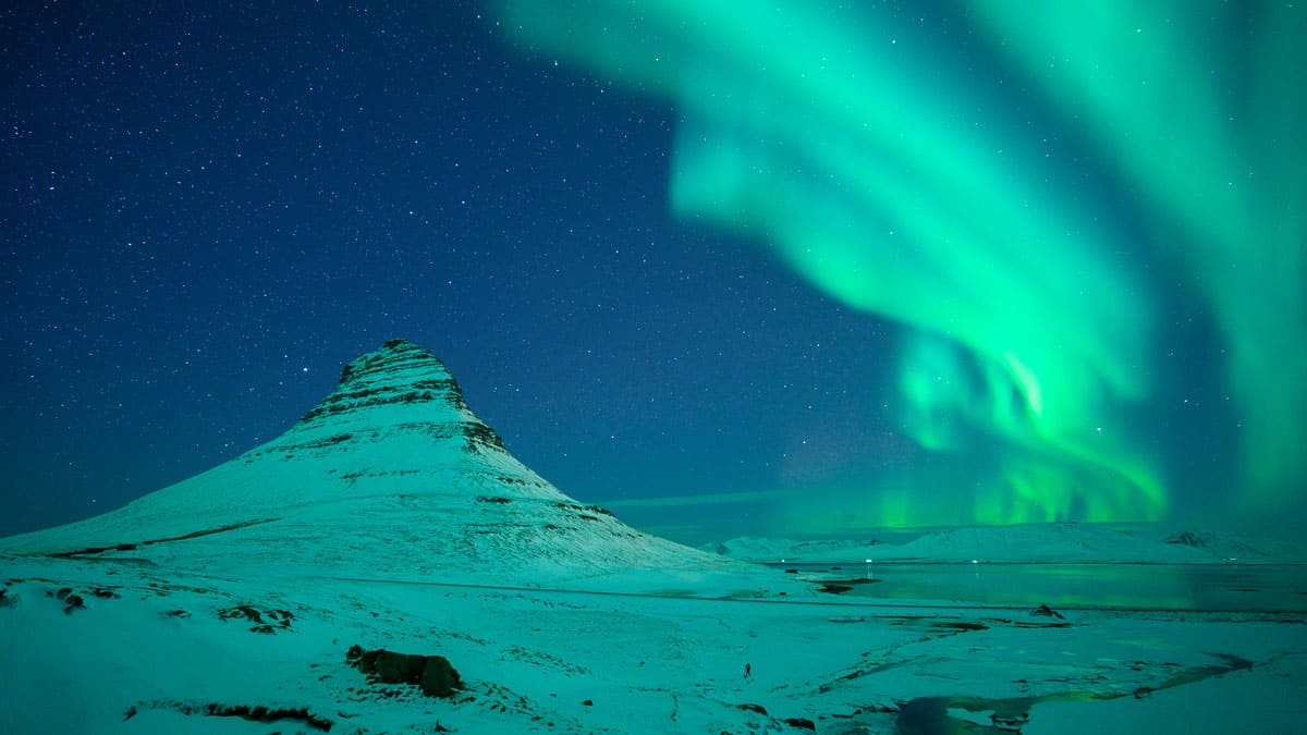 Aurora Borealis on the Snaefellsnes Peninsula in Iceland. Photo by William Kennedy