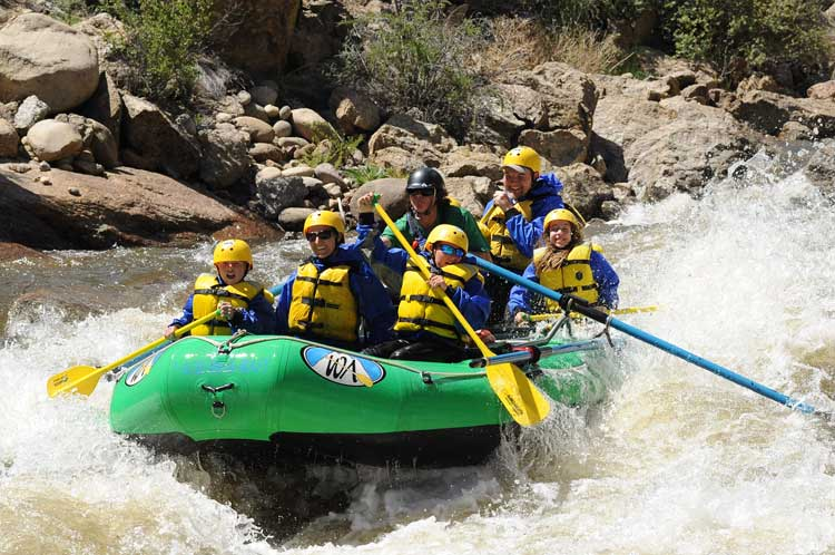 Rafting is just one of the many activities on a dude ranch vacation.