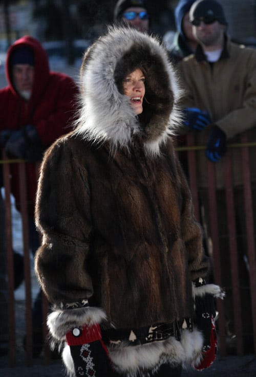 Participants honor the tradition of wearing fur to stay warm at the Fur Rendezvous. By Dino Vournas