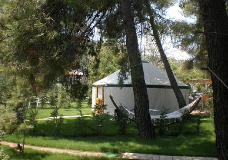 While free camping in Greece is illegal, families can still find an outdoor adventure, legally, at campsites. Photo Courtesy of Greek National Tourism Organisation