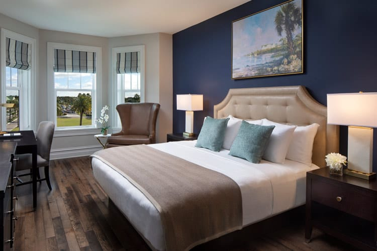 The Junior Suite at the Belleview Inn in Belleair, Florida. Photo courtesy of the Belleview Inn