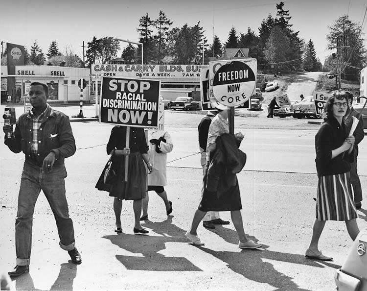 With protests for equality, the Civil Rights Movement swept the nation. CC Image by Seattle Municipal Archives
