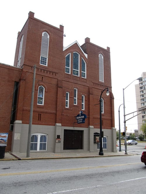 Ebenezer Baptist Church, a mere four-minute walk from King's birthplace where he was a pastor. CC Image by Ken Lund