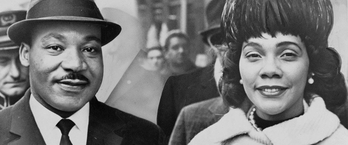 Martin Luther King Jr. and Coretta Scott King.