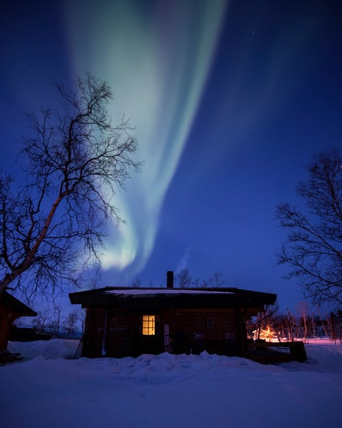 The Northern Lights above a mountain in Abisko, Swedish Lapland.  Per Lundström (Imagebank.sweden.se)