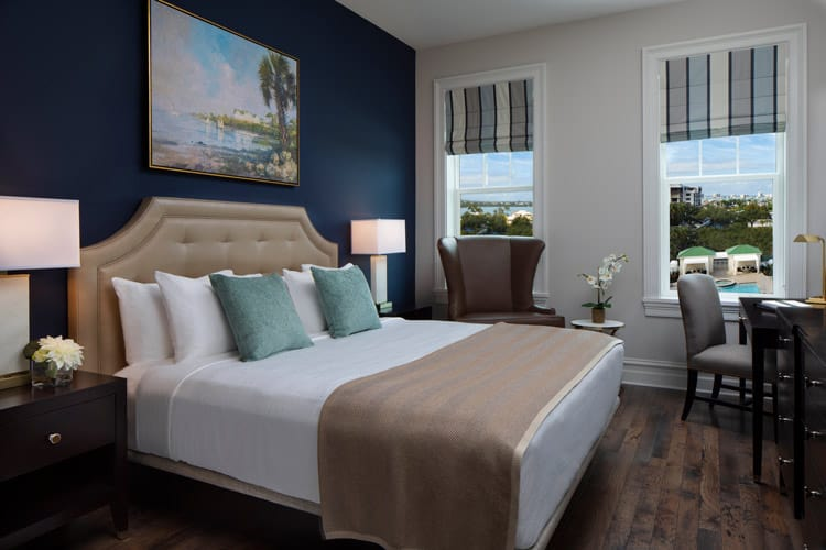 The King Suite at the Belleview Inn in Florida offers a view of the pool. Photo Courtesy of the Belleview Inn