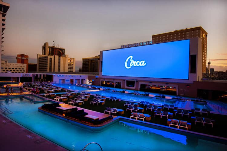 A notable feature at Circa in Vegas is the largest Stadium Swim in the US.  Photo courtesy of Circa