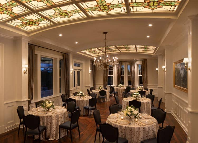 The Belleview Inn's Tiffany Ballroom. Photo courtesy of the Belleview Inn