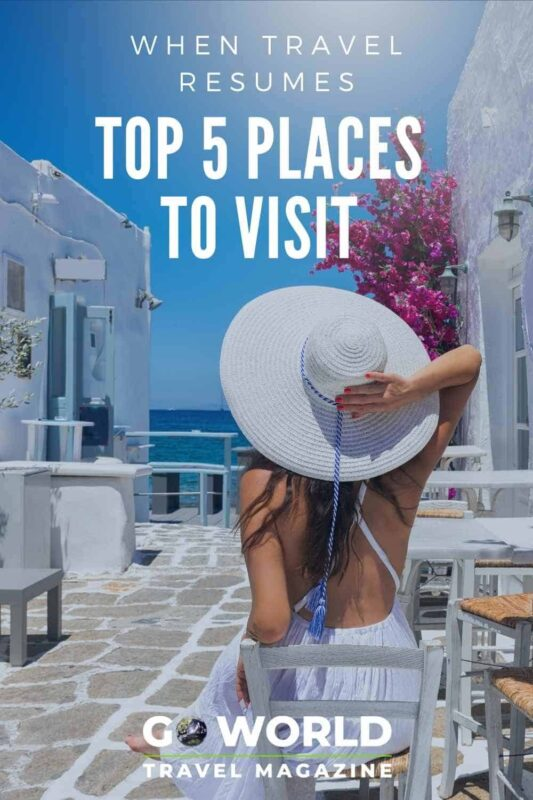 Top 5 Places Travelers Want to Visit When Travel Resumes: We're all eager to explore the world again. Here's where travelers want to go when travel resumes.