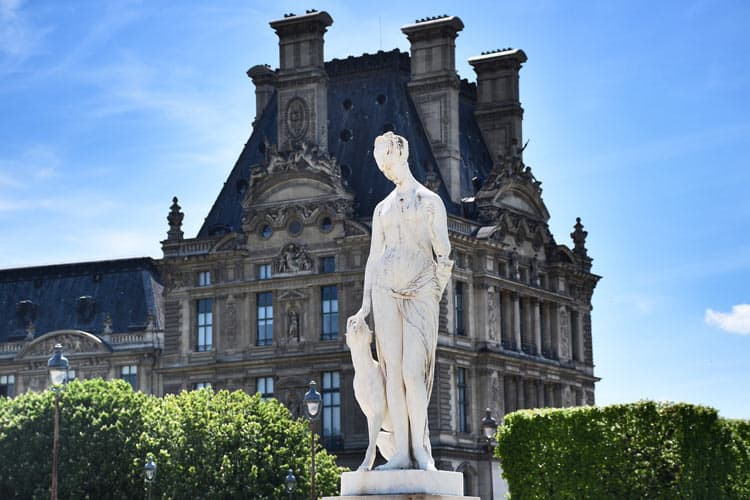 Sculptures at the Tuileries Gardens