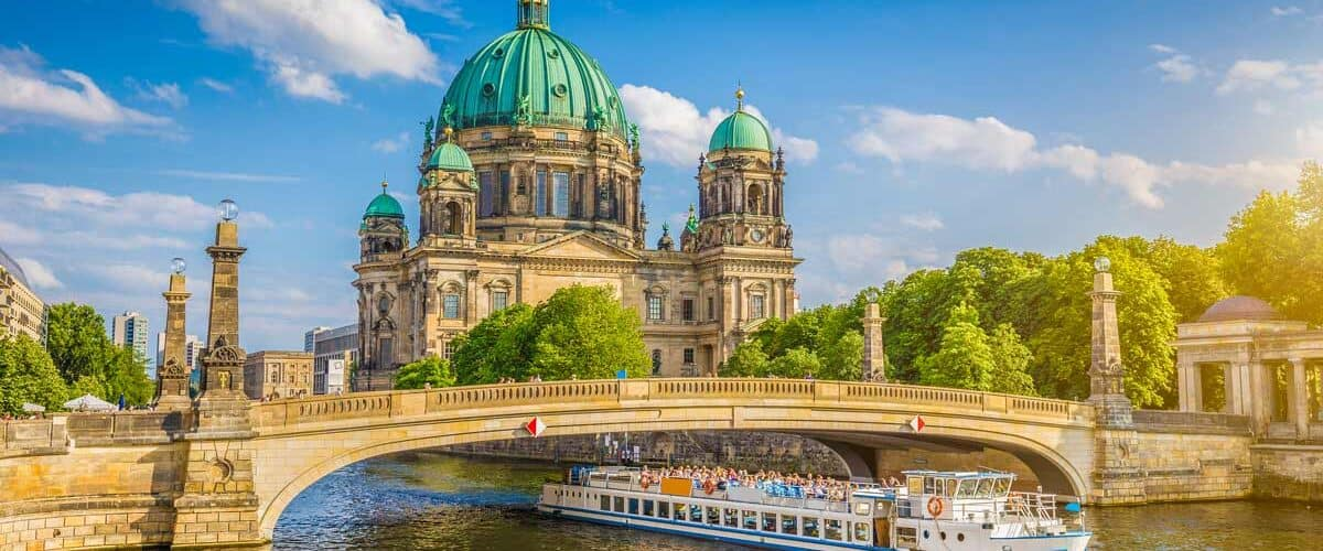 View of Museum Island in Berlin, Germany