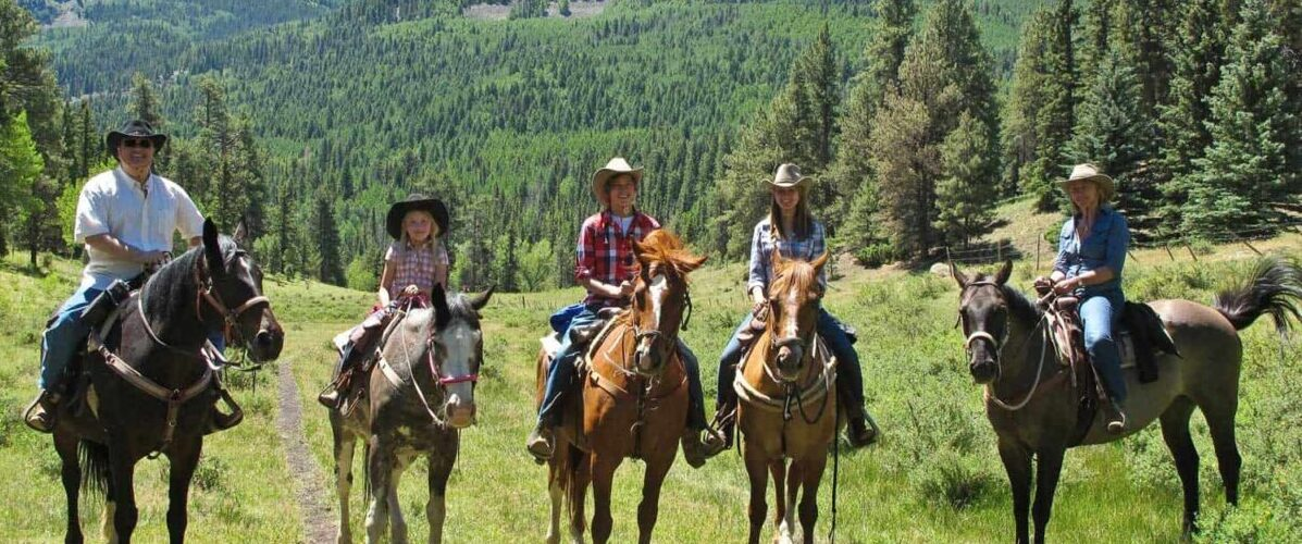 Family reunion at a dude ranch