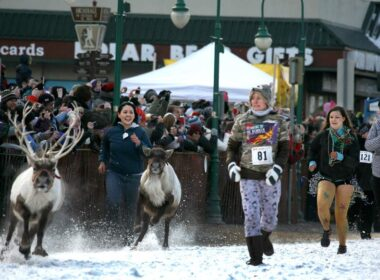 The annual Fur Rendezvous in Anchorage, Alaska