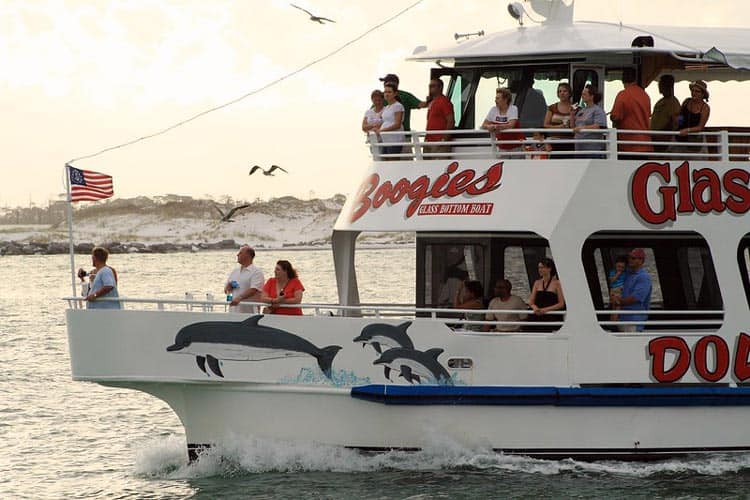 The glass bottom boat tour