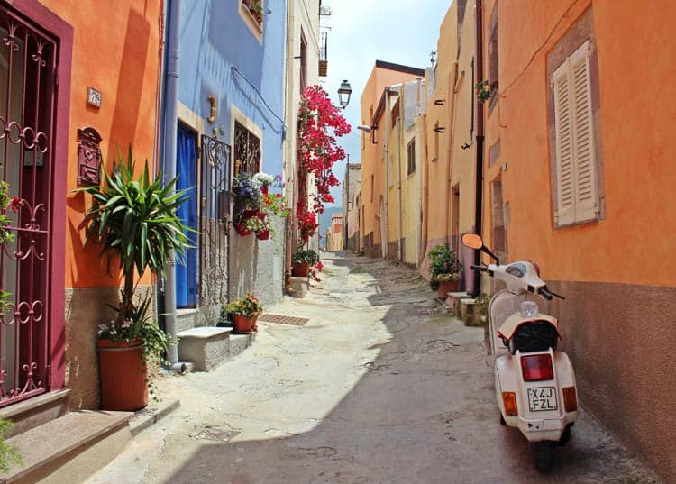 Colorful streets of Italy