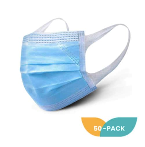 Three ply 50-pack of masks
