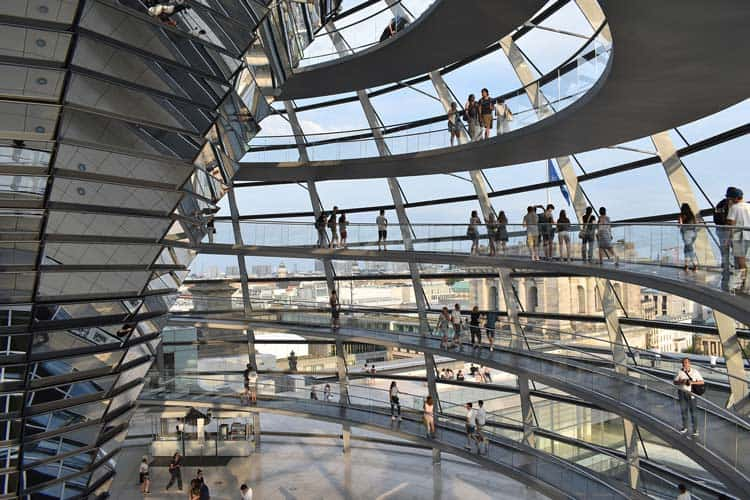 Enjoying the intricate architecture of the Reichstag building