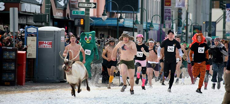 ven though the Running with the Reindeer event is canceled for the 2021 Fur Rendezvous, organizers are hoping it will return in 2022. Photo by Dino Vournas