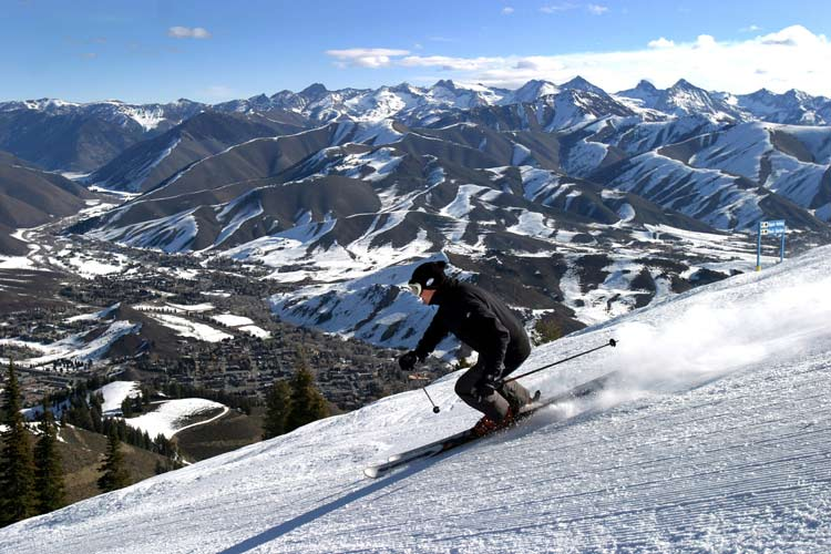 Sun Valley has slopes on Dollar Mountain and Bald Mountain. Photo by Dino Vournas