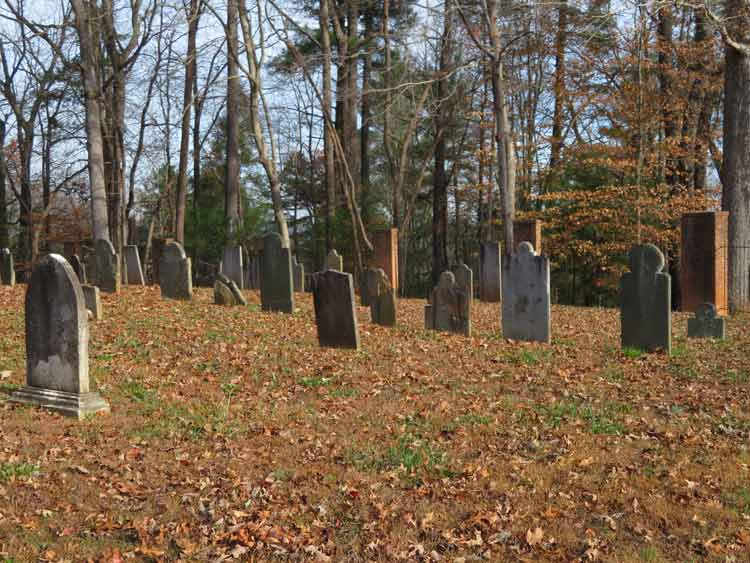 Find American history in the South by visiting the Quaker Meadows Cemetery in North Carolina. Photo by Erica Chatman