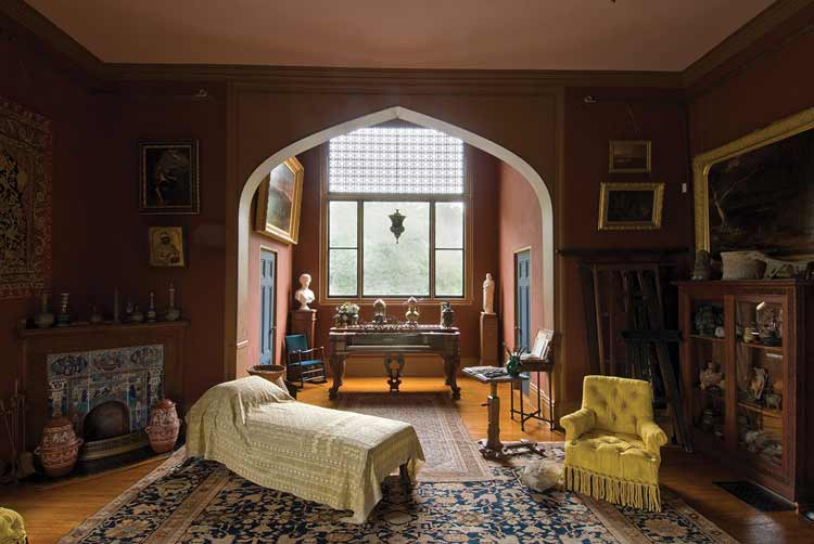 Olana State Historic Site is the studio and house of Artist Frederic Edwin Church in Hudson River Valley, New York. Photo by Nicholas Whitman Photography