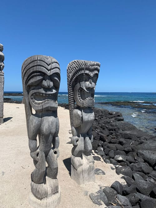 Puuhonua o Honaunau also known as the Place of Refuge was once a place of refuge for ancient Hawaiian lawbreakers. Photo by Janna Graber