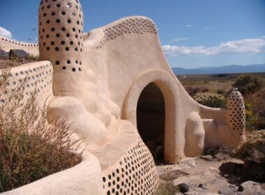 Earthship homes are completely sustainable, residents living off rainwater, homegrown food and sunshine. CC Image by theregeneration